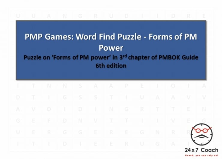 PMP Games: Word Find Puzzle – Forms of PM Power