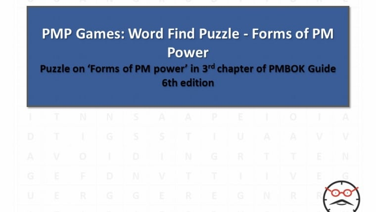 PMP Games: Word Find Puzzle – Forms of PM Power – Answer