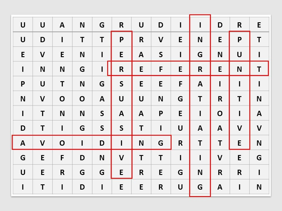 PMP Games - Word Find Puzzle - Forms of PM Power - 2