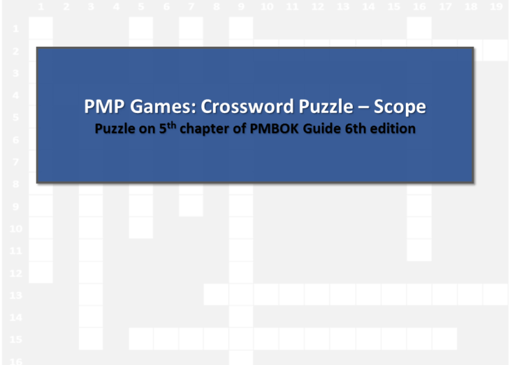 PMP Games: Crossword Puzzle – Scope Management